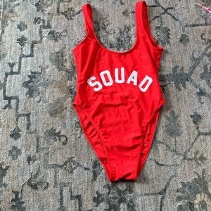 Ravesuits Red Squad One-piece swimsuit